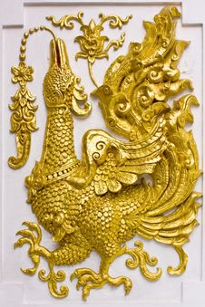 Free Thai Temple Art Of Sculpture. Royalty Free Stock Photography - 20351497