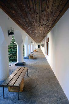 Free Porch At Rilski Monastery Stock Image - 20351571