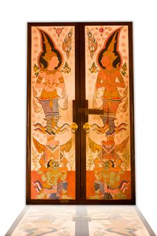 Free Thai Temple Doors. Royalty Free Stock Images - 20351719