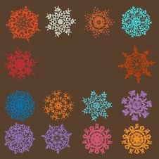 Free Cute Retro Snowflakes. EPS 8 Royalty Free Stock Photography - 20351997