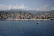 Free Coastal City With Embankment And Marina Stock Images - 20352024