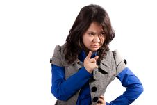 Free Strict Asian Girl Royalty Free Stock Photo - 20352725