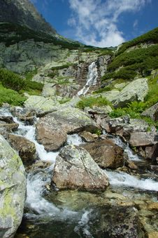 Free Beautiful Rivulet And Waterfall Royalty Free Stock Image - 20352856
