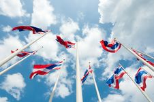 Free Thailand Flag Royalty Free Stock Image - 20353056