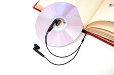 Headphones And Books Royalty Free Stock Photography