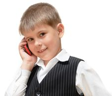 Free A Boy With A Cell Phone Royalty Free Stock Image - 20353606