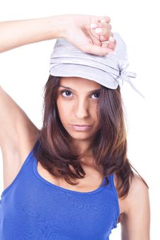 Free Woman Wearing A Hat Stock Images - 20354294