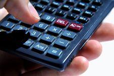 Free Hand Holding A Calculator Stock Photos - 20354553