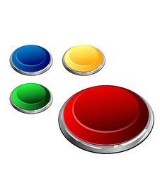 Free Set Of Multi-coloured Buttons Royalty Free Stock Photo - 20354985