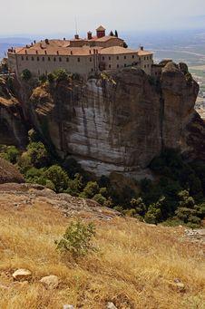 High Altitude Meteora Church Stock Photos