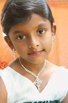 Indian  Cute Little Girl Stock Photos