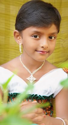 Indian Cute Girl Royalty Free Stock Images