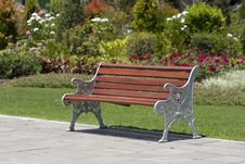 Free Bench And Flower In Park Royalty Free Stock Photography - 20356167