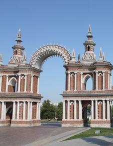 Arka Gallery-fence In Tsaritsyno Royalty Free Stock Photos