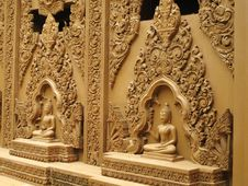 Free Buddha Statues On The Wall Stock Photography - 20356472