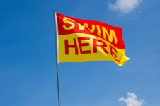 Free Swim Here Flag Stock Image - 20356851