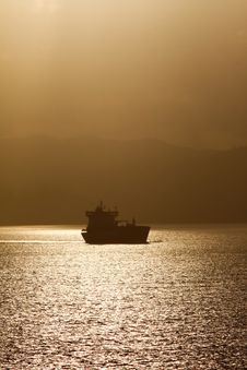 Shipping - Cargo Oil Tanker Ship At Dawn Stock Images