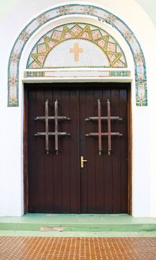 Free Historic Old San Juan Church Doors And Tile Detail Stock Photos - 20357073