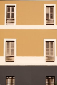 San Juan - Window Balconies And Shutters Royalty Free Stock Photo