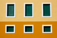 Free San Juan - 6 Window Caribbean Colored Architecture Stock Image - 20357081