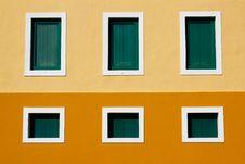 San Juan - 6 Window Caribbean Colored Architecture Stock Image