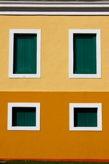 Free San Juan - 4 Window Caribbean Colored Architecture Stock Photography - 20357082