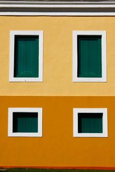 San Juan - 4 Window Caribbean Colored Architecture Stock Photography