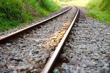Free Railway Through A Valley Royalty Free Stock Photos - 20357128