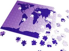Puzzle Map Stock Images