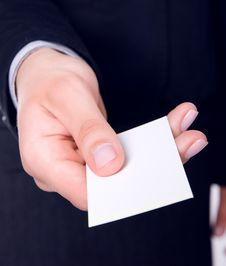 Free Businesswoman Holding Blank Empty Sign Stock Image - 20357671