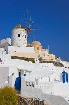Free Windmill In Oia At Santorini Island, Greece Royalty Free Stock Photos - 20357678