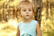 Free Cute Little Girl Smiling In A Park Royalty Free Stock Photos - 20357708