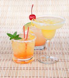 Free Margarita Cocktail, Long Island Iced Tea Royalty Free Stock Photos - 20357818