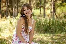 Free Sweet Young Woman Enjoying At The Park Royalty Free Stock Photography - 20357837