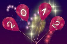Free New Year S Balloons 2012 Royalty Free Stock Photos - 20357908