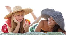 Free Two Beautiful Girls At Beach Stock Photos - 20357913