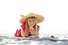Free Beautiful Girl At Beach Royalty Free Stock Images - 20357919