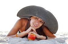 Free Beautiful Girl At Beach Royalty Free Stock Photos - 20357938