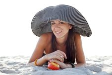 Free Beautiful Girl At Beach Stock Images - 20357954