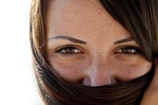 Free Close-up View At Girl S Eyes Stock Photo - 20357970