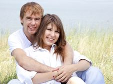 Young Couple In The Nature Stock Photography