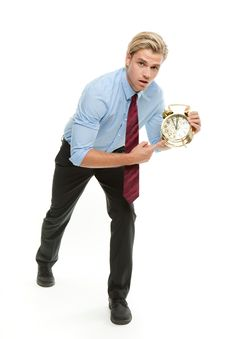 Free Businessman With Clock Stock Images - 20358074