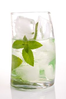 Free Tall Drink With Mint And Ice Stock Photos - 20358543