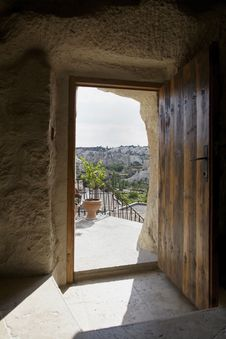 Free Goreme Cappadocia Through A Cave Doorway Royalty Free Stock Photography - 20358727