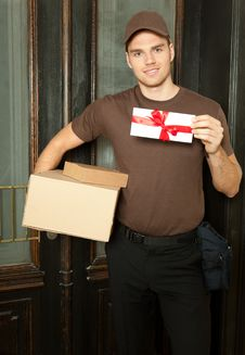 Handsome Deliveryman Royalty Free Stock Image