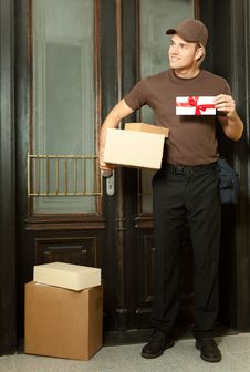 Free Deliveryman Stock Photography - 20358852