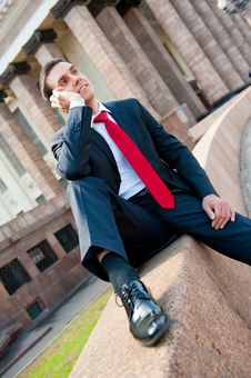Free Businessman Calling Royalty Free Stock Photo - 20358885