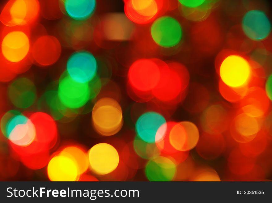 Christmas lighting background
