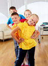 Free Group Classmates Standing In A Row Royalty Free Stock Image - 20365816