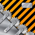 Free Metal Plate And Gears On Grunge Stock Photos - 20366863